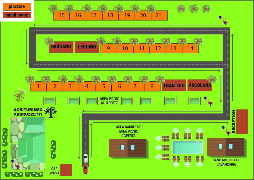 Carte interactive abbruzzetti AgriCampeggio